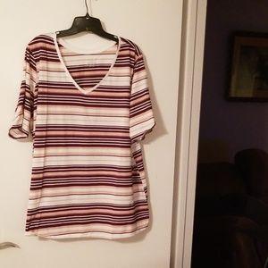Lane Bryant Stripe T shirt